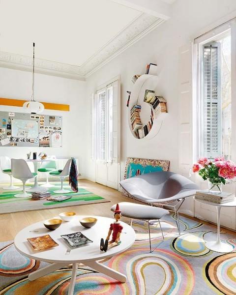 Квартира с диагональной перепланировкой от Miel Arquitectos