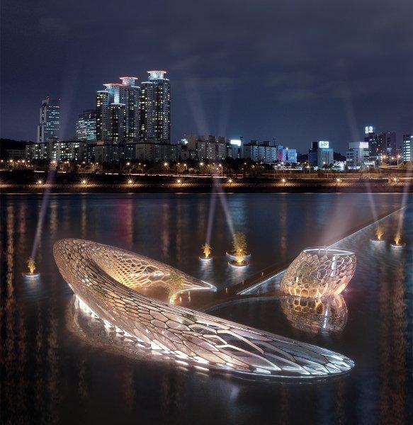 Проект Dancing Water Pavilion в Сеуле