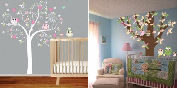 «Птичий» декор интерьеров детской комнаты для девочек и мальчиков