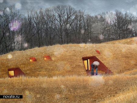 Проект подземных коттеджей от Patkau Architects