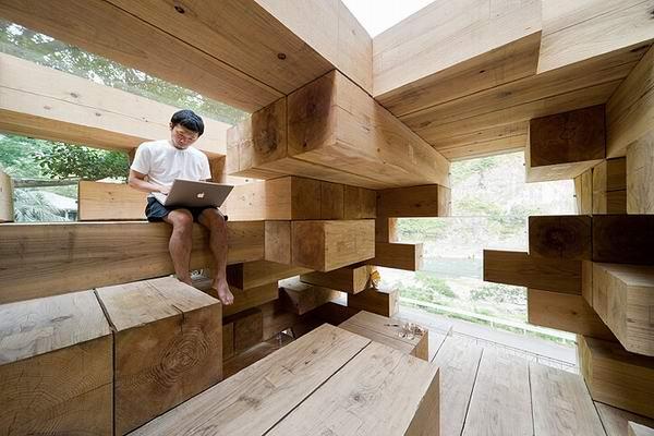 Жилой дом Final Wooden House от Су Фудзимото (Sou Fujimoto)