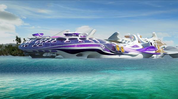 Three Spirits – футуристический проект плавающего отеля