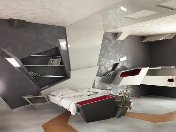 Футуристический дизайн интерьера квартиры