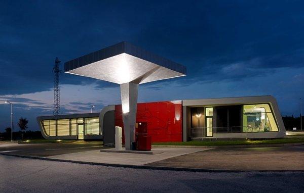 Gazoline Petrol Station. Концептуальная АЗС от итальянских дизайнеров