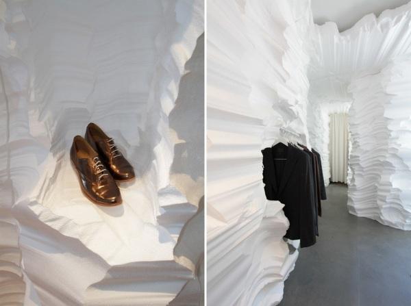 Временный бутик для новой коллекции одежды от Ричарда Чая (Richard Chai)