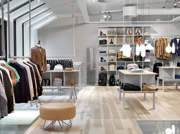Винтажный минимализм бутика мужской одежды Haberdash Store в Стокгольме