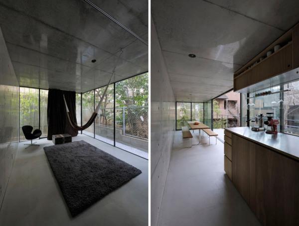 Узкий извилистый дом в Токио (Япония)