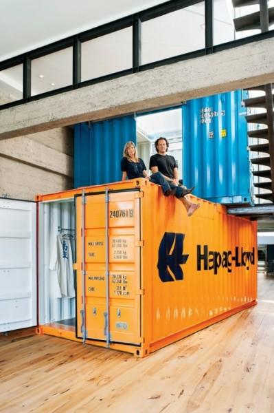 Жилой лофт из промышленных контейнеров в Сан-Францисско (США)