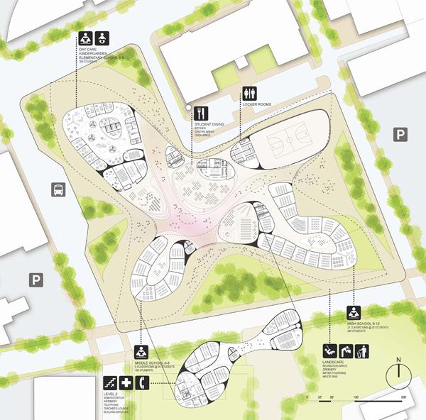 Инновационный проект Campus International School от OS+A