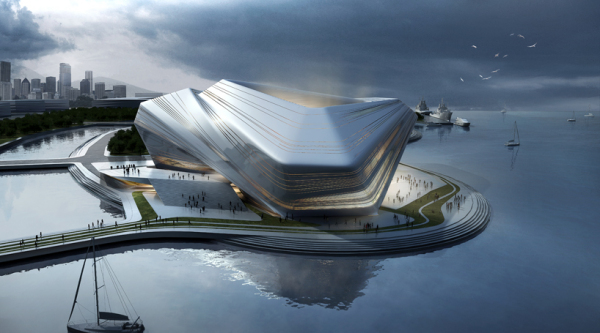 Проект здания Busan Opera House в Южной Корее от jian junkai + huang jinqi