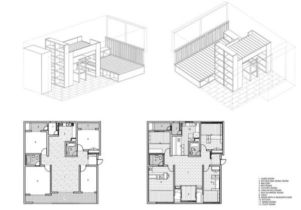 Креативный ремонт квартиры для молодой семьи от Moohoi architect