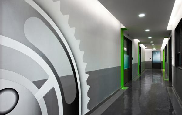 Интерьеры штаб-квартиры компании KH Gears в Китае