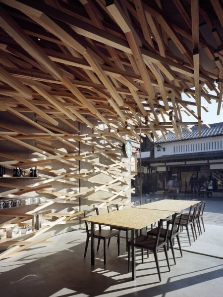 Креативный дизайн японской кофейни Starbucks в Токио
