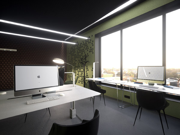 Проект офиса leaf office от Андрея Дмитриева