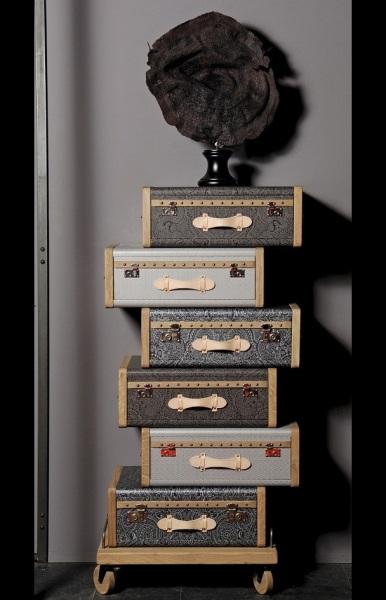Les Valises - винтажная линия мебели от Эммануэль Легавр (Emmanuelle Legavre)