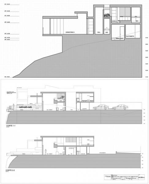 Casa Playa Las Lomas I-05 – вилла на камнях и песке от Vertice Arquitectos