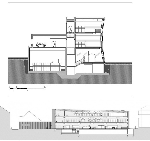 Культурный центр Lons-le-Saunier Library/Cinemas во Франции