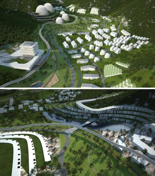 Проект эко-долины Mentougou eco valley от Eriksson architects