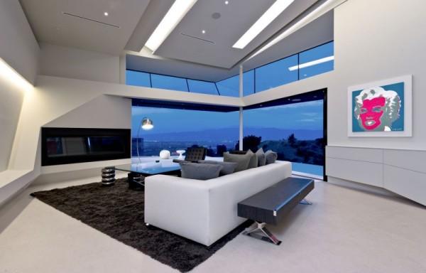 Каскадная архитектура жилого дома MUL:7691 на холмах Лос-Анджелеса