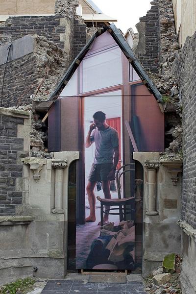 Архитектурная инсталляция Майка Хьюсона (Mike Hewson) в Крайстчерче (Новая Зеландия)