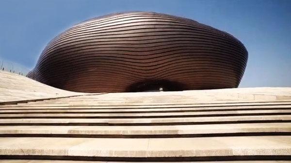 Здание музея Ordos museum от MAD architects в Ордосе (Внутренняя Монголия, Китай)