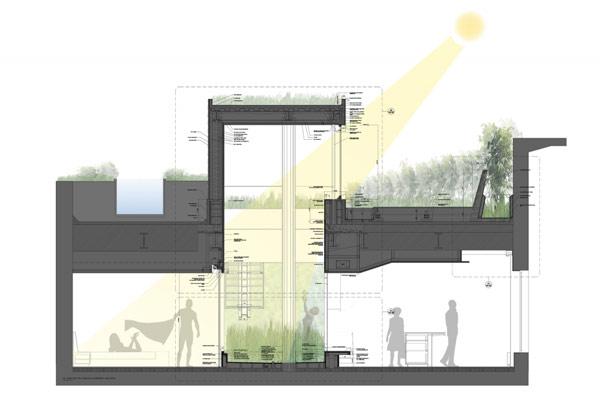 Broadway penthouse - квартира с интегрированным зеленым садом на Бродвее