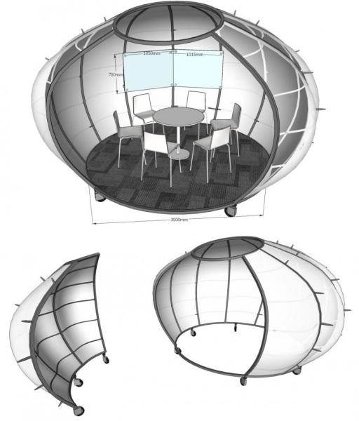Pumpkin Room – креативный офисный модуль от китайских дизайнеров