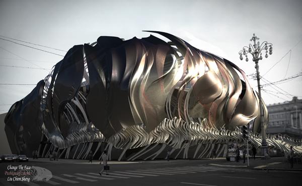 Футуристический концепт реконструкции кинотеатра Пушкинский от тайваньских архитекторов