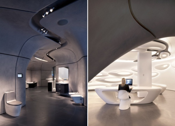 Галерея Roca London Gallery от Захи Хадид (Zaha Hadid) в Лондоне