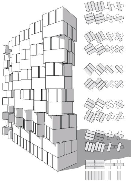 Аутентичная кирпичная кладка фасада в индийском здании SAHRDC