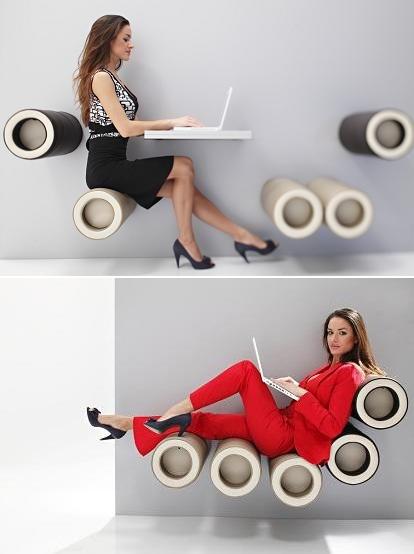 K88–seat O – стильная настенная мебель от KLUN