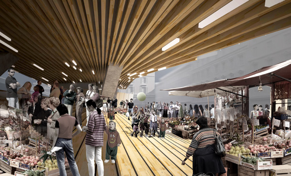 Elevated Market и Culinary School – проект нового разноцелевого комплекса в Париже (Франция)