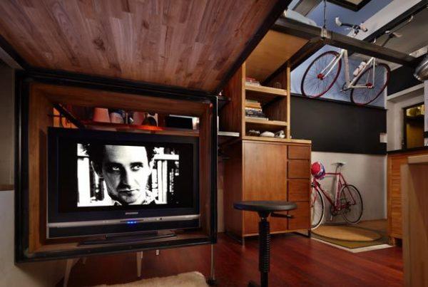 Оформление интерьера малогабаритного жилья, расположенного в подвальном помещении в Ситтле (Великобритания)