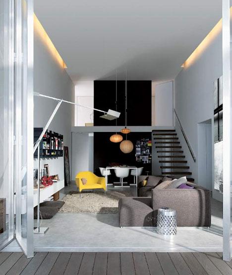 Интерьер небольшого дома от Poliform