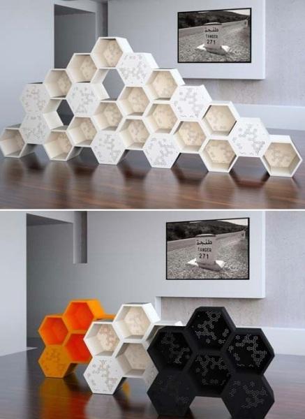 Актуальные «медовые соты» в дизайне интерьеров