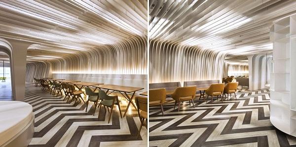 U Lounge design – креативное расширение университета в Таиланде