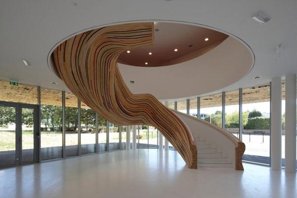 Лестница-скульптура в School of Arts (Франция)