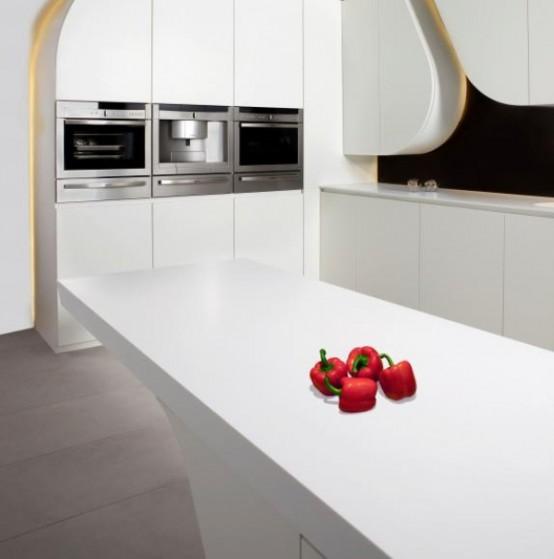 Wave kitchen - футуристическая кухня от A-Cero