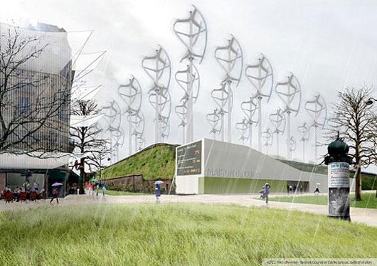 Проект экологической реорганизации Парижа City Site Plan Design for Paris 2100