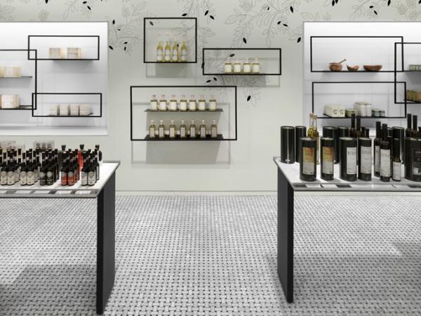 Интерьер канадского бутика TA-ZE Premium Olive Oil Store от Burdifilek