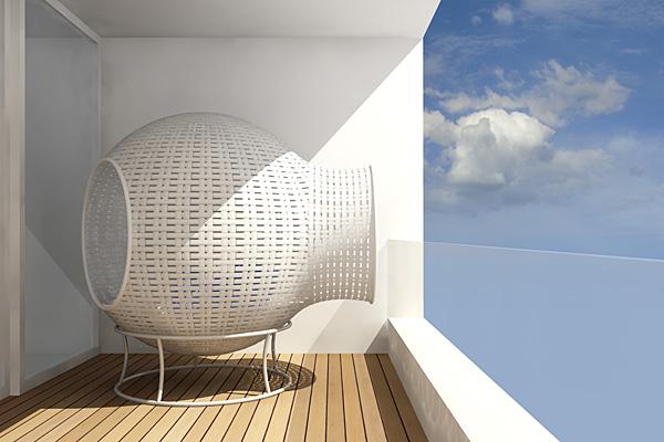 Sight – кресло для балкона от Тима Кирпа (Tim Kerp)