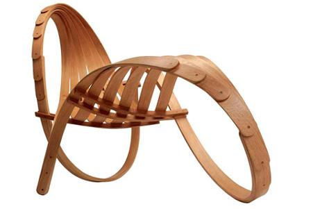 Кресло-шезлонг Chaise Longue № 4 от Тома Раффилда (Tom Raffield)
