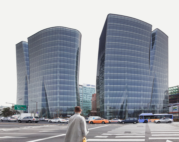 Офисные здания Twin trees от BCHO architects в Сеуле