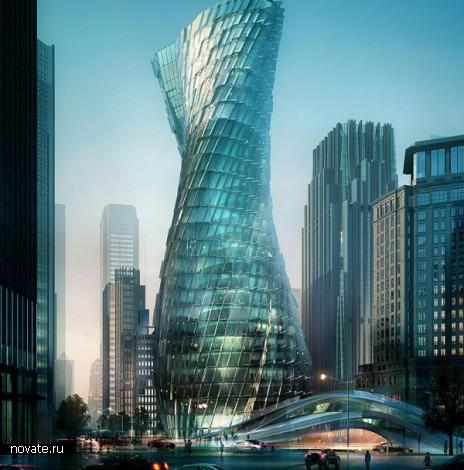 Проект небоскреба Twisting Tower в Шанхае