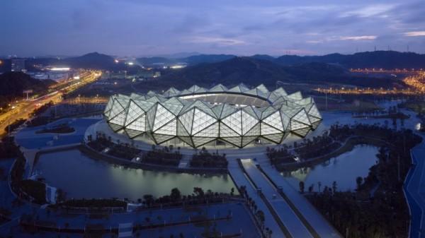 Universiade Sports Center in Shenzhen - спортивный комплекс от GMP Architects в Китае