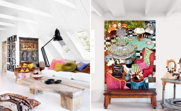 Отреставрированный особняк, принадлежащий Мари и Бену Олссон Нюлендерам (Olsson Nylander), оформленный в стиле