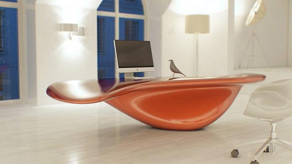 Volna Table - футуристическая офисная мебель от турецких дизайнеров