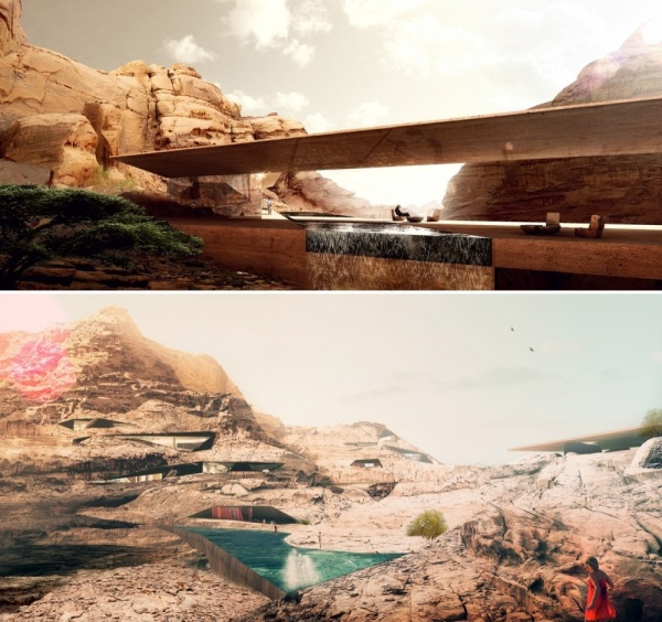 Проект эко-комплекса Wadi Resort в Иордании от Oppenheim Architecture + Design