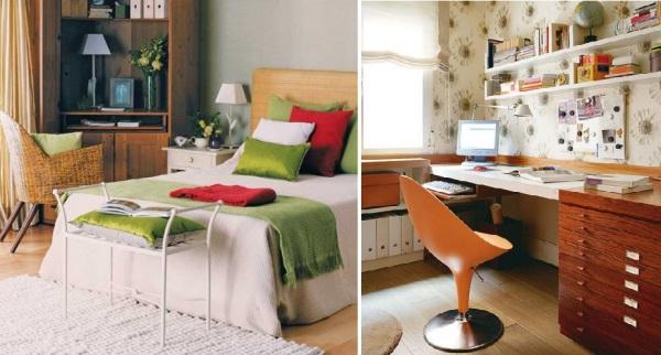 Идеи для организации рабочего пространства в помещении спальни