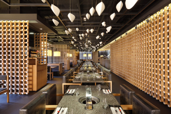 Барбекю-ресторан Master Japanese barbecue в Шанхае (Китай)